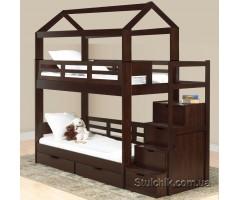Двоярусне ліжко з масиву Остін Плюс