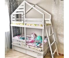 Двухъярусная кровать домик Карлсон