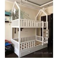 Двухъярусная кровать домик Шато Плюс