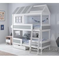 Ліжко будиночок двоповерхове Шеффілд
