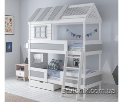 Кровать домик двухэтажный Шеффилд