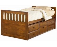 Односпальная подростковая кровать с ящиками Дельта