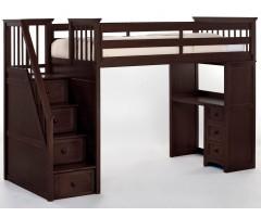 Двухъярусная кровать-чердак с лестницей комодом Мирон