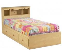 Деревянная кровать Лили Роус с полками