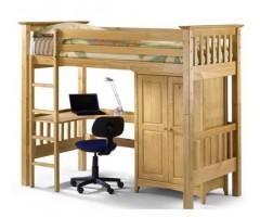 Кровать-чердак подростковая деревянная Бедсайтер