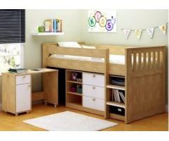Детская кровать-чердак Калифорния с выдвижным столом