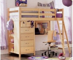 Деревянная кровать-чердак Гисборн