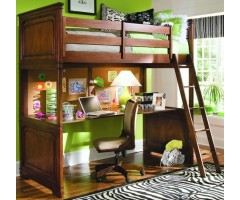Подростковая кровать-чердак Веллингтон с рабочей зоной