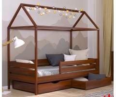 Кровать домик из массива бука Амми-2