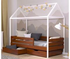 Кровать домик из щита бука Амми