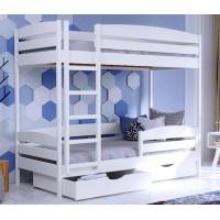 Детская двухъярусная кровать из бука Дуэт Плюс щит