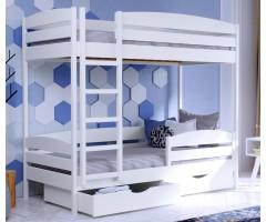 Дитяче двохярусне ліжко з буку Дует Плюс щит