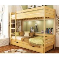 Двухэтажная кровать из бука Дуэт щит