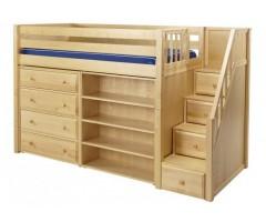 Кровать-чердак из массива Филвуд
