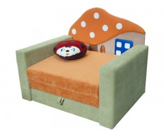 Раскладной детский диванчик малютка с подлокотниками Фантазия Грибок 01M083