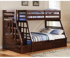 Кровать двухъярусная с лестницей Кайман