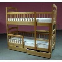 Двухярусная кровать Карина Люкс с ящиками и матрасами
