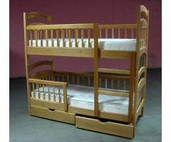 Двоярусне ліжко Каріна Люкс Еко з шухлядами та матрацами