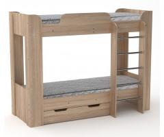 Двоярусне ліжко Твікс-2 з матрацами