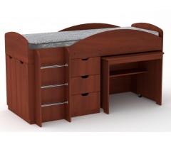 Кровать-чердак со столом и комодом Универсал