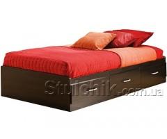 Підліткове ліжко-подіум з трьома висувними ящиками Острівець