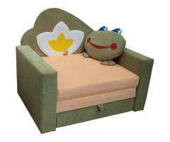 Большой раскладной детский диванчик Фантазия Лягушка 01M103