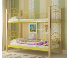 Двухэтажная кровать из металла и дерева Тиара