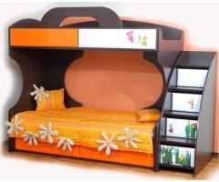 Двоярусне ліжко Піонер МДФ колір венге