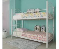 Двухъярусная металлическая кровать с ковкой Диана