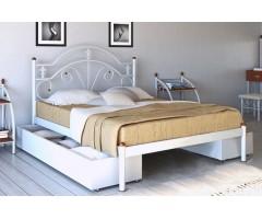 Металлическая кровать без изножья Диана двуспальная лайт