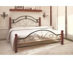 Металеве ліжко з куванням Діана двоспальна
