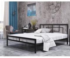 Металеве ліжко в стилі лофт Квадро-2