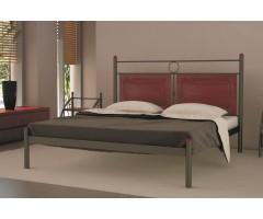 Двоспальне ліжко з декоративними вставками Ніколь