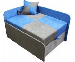 Дитяче сіро-синє крісло-ліжко Міні 10M21