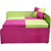 Детский розовый угловой раскладной диван-малютка Мини 10M22