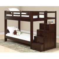 Двухэтажная кровать с лестницей-комодом Остин