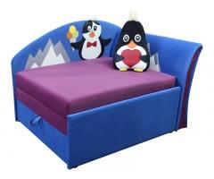 Дитячий синій кутовий диван-малятко Мрія Пінгвінчик 02M021