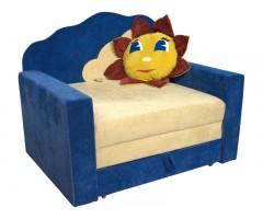 Великий розкладний синій диван-малюк Фантазія Хмарка 01M073