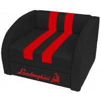 Кресло-кровать СМАРТ Ламборгини черно-красное