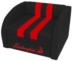 Крісло-ліжко СМАРТ Ламборгіні чорно-червоне