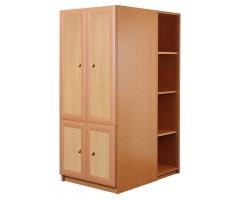 Шкаф 600 со стеллажами низкий Злата La6