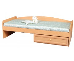 Ліжко з одним ящиком і спинкою Злата