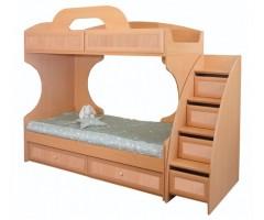 Кровать 2-х ярусная Злата с лестницей-комодом