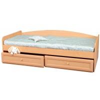 Кровать с двумя ящиками и спинкой Злата