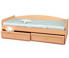 Ліжко з двома ящиками і спинкою Злата
